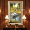 อุปกรณ์ทำภาพครอสติสคริสตัลหงส์ขาวแสนสวยในทะเลสาบ คริสตัลติดเต็มภาพ