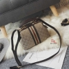 กระเป๋าสะพายแฟชั่น กระเป๋าสะพายข้างผู้หญิง Style Gucci วัสดุผ้าหนาปักดิ้นเงาเล่นแสง [สีน้ำตาล ]