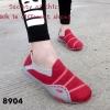 พร้อมส่ง รองเท้าผ้าใบแฟชั่นสีแดง ไร้เชือก สไตล์ Sport Girls แฟชั่นเกาหลี [สีแดง ]