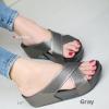 รองเท้าแตะเพื่อสุขภาพ พื้นยาง Slide Fitness Style [สีเทา ]