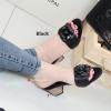 รองเท้าส้นตันเปิดส้น CN CamilliaSandals Style [สีดำ ]