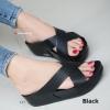 รองเท้าแตะเพื่อสุขภาพ พื้นยาง Slide Fitness Style [สีดำ ]
