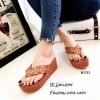 พร้อมส่ง รองเท้าแตะผู้หญิงสีส้ม แบบคีบ BAOBAO Issey Miyake แฟชั่นเกาหลี [สีส้ม ]