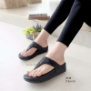 รองเท้าแตะเพื่อสุขภาพ แบบคีบ สายคาดแต่งเพชร [สีดำ ]