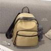 กระเป๋าเป้ผู้หญิง กระเป๋าสะพายข้างแฟชั่น Moschino แถมพวงกุญแจหมี [สีกากี ]