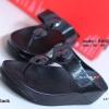 รองเท้าแตะเพื่อสุขภาพ แบบคีบ ประดับเม็ดคริสตัล [สีดำ ]