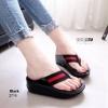 รองเท้าแตะเพื่อสุขภาพ หูหนีบ หน้าเท้าว้างใส่สบาย [สีดำ ]