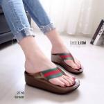 รองเท้าแตะเพื่อสุขภาพ หูหนีบ หน้าเท้าว้างใส่สบาย [สีเขียว ]