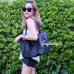 กระเป๋าสะพายแฟชั่น กระเป๋าสะพายข้างผู้หญิง Baobao crystal [สีดำ]