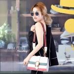 กระเป๋าสะพายแฟชั่น กระเป๋าสะพายข้างผู้หญิง Style กุชชี่ [สีขาว ]
