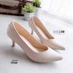 รองเท้าคัทชูผู้หญิง ทรงเก็บเท้า สีพาสเทล [สีครีม ]