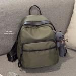 กระเป๋าเป้ผู้หญิง กระเป๋าสะพายข้างแฟชั่น Moschino แถมพวงกุญแจหมี [สีเขียว ]
