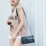 กระเป๋าสะพายแฟชั่น กระเป๋าสะพายข้างผู้หญิง Chanel Boy Toy [สีดำ ]