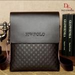 กระเป๋าสะพายแฟชั่น กระเป๋าสะพายข้างแฟชั่น Style POLO [สีน้ำตาล ]
