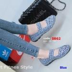รองเท้าผ้าใบเพื่อสุขภาพ ผ้ายางถัก เอาใจสปอร์ตเกิร์ล [สีน้ำเงิน ]
