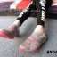 พร้อมส่ง รองเท้าผ้าใบแฟชั่นสีเทา ไร้เชือก สไตล์ Sport Girls แฟชั่นเกาหลี [สีเทา ] thumbnail 4