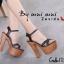 รองเท้าส้นสูงรัดส้น สายคาดไขว้ [สีดำ ] thumbnail 4