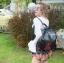 กระเป๋าเป้ผู้หญิง กระเป๋าสะพายข้างแฟชั่น ปักลายวินเทจ สะพายข้างหรือสพายหลังก็ได้ [สีดำ ] thumbnail 3
