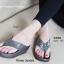 พร้อมส่ง รองเท้าแตะเพื่อสุขภาพสีเทา Crystal Fitness Soft แฟชั่นเกาหลี [สีเทา ] thumbnail 2