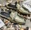 พร้อมส่ง รองเท้าส้นแบนสีทอง แบบสวม สีเมทัลลิค แฟชั่นเกาหลี [สีทอง ] thumbnail 4