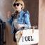 กระเป๋าสะพายแฟชั่น กระเป๋าสะพายข้างผู้หญิง กระเป๋าผ้า Pool [สีครีม] thumbnail 3