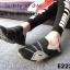 พร้อมส่ง รองเท้าผ้าใบแฟชั่นสีดำ ไร้เชือก สไตล์ Sport Girls แฟชั่นเกาหลี [สีดำ ] thumbnail 4