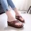 รองเท้าแตะเพื่อสุขภาพ หูหนีบ หน้าเท้าว้างใส่สบาย [สีเขียว ] thumbnail 1