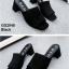 รองเท้าส้นตันเปิดส้น แบบสวม [สีดำ ] thumbnail 2