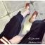 พร้อมส่ง รองเท้าคัทชูส้นแบนสีน้ำตาล หัวตัด กำไรข้อเท้าไข่มุก แฟชั่นเกาหลี [สีน้ำตาล ] thumbnail 5