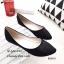 พร้อมส่ง รองเท้าคัทชูส้นแบน กำมะหยี่นิ่ม แต่งเกร็ดวิ้งๆ แฟชั่นเกาหลี [สีดำ ] thumbnail 2