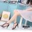พร้อมส่ง รองเท้าส้นเข็มหุ้มข้อสีดำ ผ้าสักหราด แฟชั่นเกาหลี แฟชั่นเกาหลี [สีเบจ ] thumbnail 4