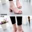 รองเท้าส้นตันเปิดส้น แบบสวม [สีชมพู ] thumbnail 3