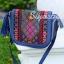 กระเป๋าสะพายแฟชั่น กระเป๋าสะพายข้างผู้หญิง วินเทจ(สะพายข้างลายปัก) [สีดำ] thumbnail 3