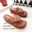 พร้อมส่ง รองเท้าแตะผู้หญิงสีส้ม แบบคีบ BAOBAO Issey Miyake แฟชั่นเกาหลี [สีส้ม ] thumbnail 2