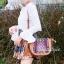 กระเป๋าสะพายแฟชั่น กระเป๋าสะพายข้างผู้หญิง วินเทจดีไซน์ [สีน้ำตาล ] thumbnail 2