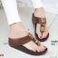 พร้อมส่ง รองเท้าแตะเพื่อสุขภาพสีน้ำตาล SWEETIE Sandals Style แฟชั่นเกาหลี [สีน้ำตาล ] thumbnail 1