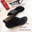 พร้อมส่ง รองเท้าหุ้มข้อสีน้ำสีดำ แฟชั่นแคชชวล ฉลุลาย แฟชั่นเกาหลี [สีดำ ] thumbnail 5
