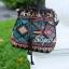 กระเป๋าสะพายแฟชั่น กระเป๋าสะพายข้างผู้หญิง วินเทจ(ขนมจีบลายปัก) [สีเขียว] thumbnail 4
