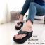 พร้อมส่ง รองเท้าแตะผู้หญิงสีดำ แบบคีบ BAOBAO Issey Miyake แฟชั่นเกาหลี [สีดำ ] thumbnail 2