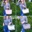 กระเป๋าสะพายแฟชั่น กระเป๋าสะพายข้างผู้หญิง ลองชอมหนัง Style [สีเงิน ] thumbnail 4