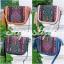 กระเป๋าสะพายแฟชั่น กระเป๋าสะพายข้างผู้หญิง วินเทจ(สะพายข้างลายปัก) [สีดำ] thumbnail 4