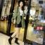 พร้อมส่ง รองเท้าผ้าใบหุ้มข้อสีดำ ผ้าสักหราด แฟชั่นเกาหลี แฟชั่นเกาหลี [สีดำ ] thumbnail 1