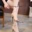 รองเท้าส้นเข็มรัดข้อ สไตล์เกาหลี [สีครีม ] thumbnail 3