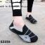 พร้อมส่ง รองเท้าผ้าใบแฟชั่นสีดำ ไร้เชือก สไตล์ Sport Girls แฟชั่นเกาหลี [สีดำ ] thumbnail 1