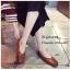 พร้อมส่ง รองเท้าคัทชูส้นแบนสีน้ำตาล หัวตัด กำไรข้อเท้าไข่มุก แฟชั่นเกาหลี [สีน้ำตาล ] thumbnail 1
