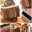 กระเป๋าถือ กระเป๋าสะพายข้างแฟชั่น หนังดี สไตล์ Boyy [สีน้ำตาล ] thumbnail 4