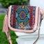 กระเป๋าสะพายแฟชั่น กระเป๋าสะพายข้างผู้หญิง วินเทจ(สะพายข้างลายปัก) [สีชมพู] thumbnail 3