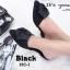 พร้อมส่ง รองเท้าส้นเตี้ยเปิดส้นสีดำ หัวแหลม แต่งกุหลาบ แฟชั่นเกาหลี [สีดำ ] thumbnail 4