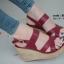 รองเท้าส้นเตารีดรัดส้น สายไขว้ กระชับเท้า [สีแดง ] thumbnail 5