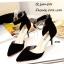 พร้อมส่ง รองเท้าส้นเข็มรัดข้อสีดำ หัวแหลม เดย์ทูไนท์ไอเท็ม แฟชั่นเกาหลี [สีดำ ] thumbnail 3